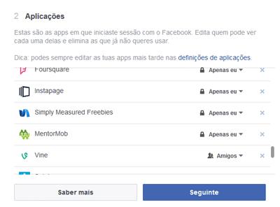 Verificar-Pivacidade-Facebook-Aplicações